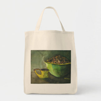 朝のコーヒーオーガニックな買い物袋 トートバッグ