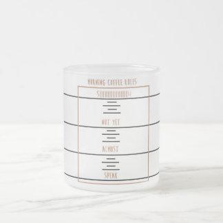 朝のコーヒー規則 フロストグラスマグカップ