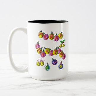 朝のコーヒー・マグのジングルベル ツートーンマグカップ