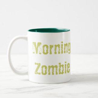 朝のゾンビ ツートーンマグカップ
