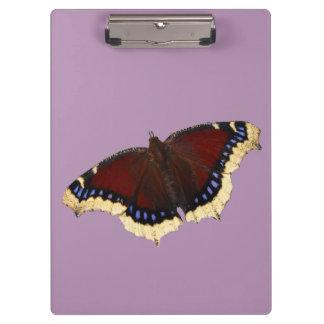 朝のマントの蝶デザインのクリップボード クリップボード