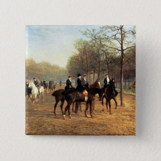 朝の乗車、腐った列、ハイドパーク1894年(油 缶バッジ