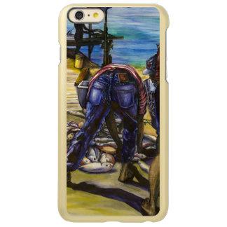朝の捕獲物、港の島、バハマ INCIPIO FEATHER SHINE iPhone 6 PLUSケース