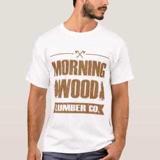 朝の木製の製材CO、 Tシャツ