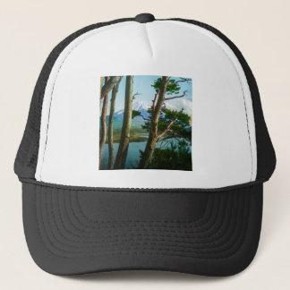 朝の森のヴィンテージ日本による富士山 キャップ