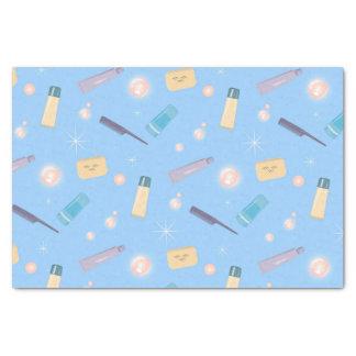 朝の浴室の儀式のコラージュ 薄葉紙
