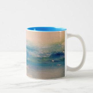 朝の海洋 ツートーンマグカップ