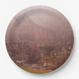 朝の霧 ペーパープレート