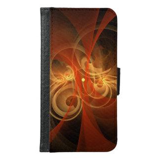 朝の魔法の抽象美術のウォレットケース GALAXY S6 ウォレットケース