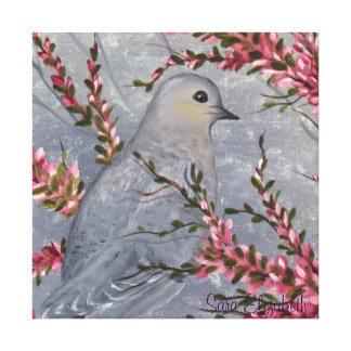 朝の鳩 キャンバスプリント