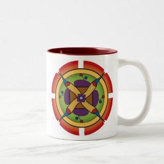 朝の黙想のマグ ツートーンマグカップ