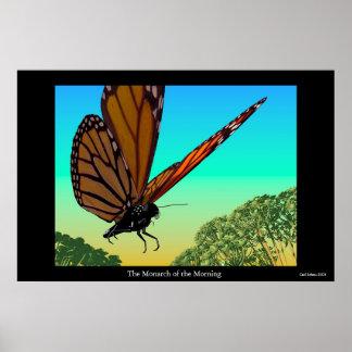 朝の(昆虫)オオカバマダラ、モナーク ポスター