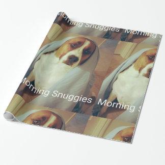 朝のSnuggiesの紙 ラッピングペーパー