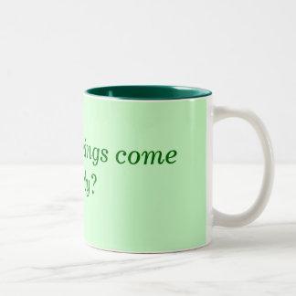 朝はなぜそう早く来ますか。 ツートーンマグカップ