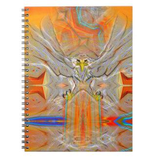 朝日のノートの方の厳粛にワシの上昇 ノートブック