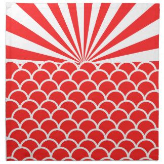 朝日の赤い日本人の刺激を受けたなパターン ナプキンクロス