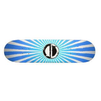 朝日青い板 21.6CM スケートボードデッキ