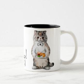 朝猫 ツートーンマグカップ