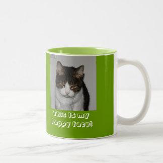 朝猫-名前入りなマグ ツートーンマグカップ