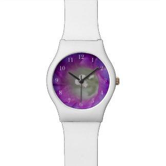 朝顔のマクロ5月28日の腕時計 腕時計