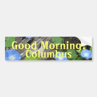 朝顔の水彩画 バンパーステッカー