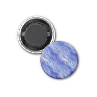 朝顔の青い波状の質 マグネット