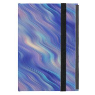 朝顔の青い波状の質 iPad MINI ケース