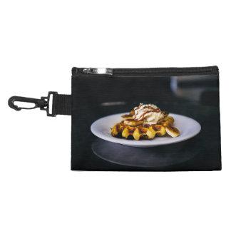 朝食のためのおいしく厚いワッフル アクセサリーバッグ
