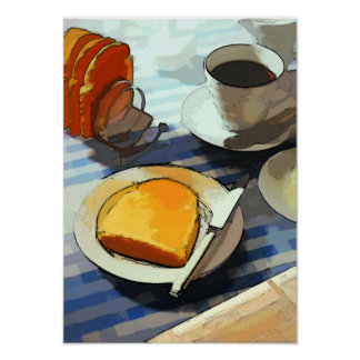 朝食のコーヒー ポスター