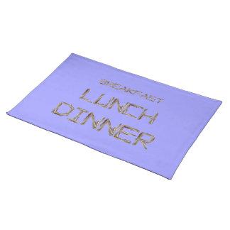 朝食の昼食および夕食-ベーコン ランチョンマット