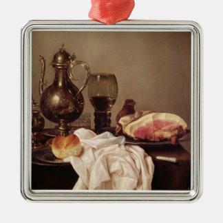 朝食の静物画(パネルの油) メタルオーナメント