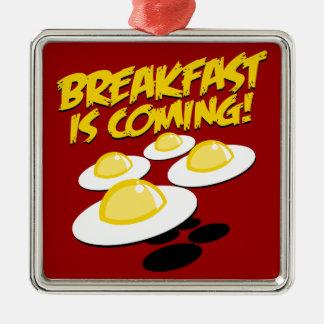 朝食は来ています! メタルオーナメント