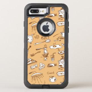 朝食パターン2 オッターボックスディフェンダーiPhone 8 PLUS/7 PLUSケース