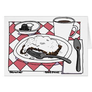 朝食 グリーティングカード