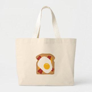 朝食 ラージトートバッグ