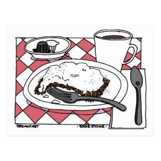 朝食 葉書き