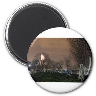 朝鮮戦争の記念のワシントン記念塔夜 マグネット