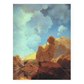 朝(春)、Maxfield Parrishのファインアート ポストカード