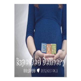 期待された配達妊娠の発表の磁石 マグネットカード