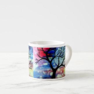 木およびインク透明な層 エスプレッソカップ