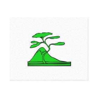 木および山green.png キャンバスプリント