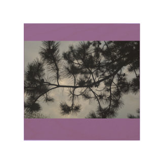 木および空 ウッドウォールアート