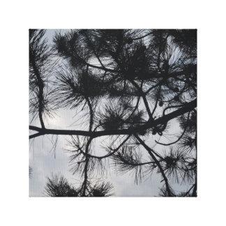 木および空 キャンバスプリント