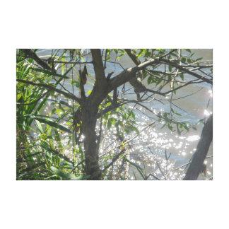 木および銀 キャンバスプリント