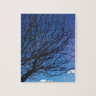 木および青空のパズル ジグソーパズル