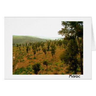木が付いているモロッコの谷 カード