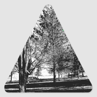 木が付いている公園 三角形シール
