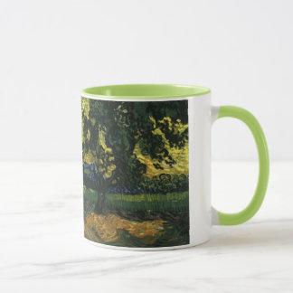 木が付いている分野ゴッホ著Auversの館 マグカップ
