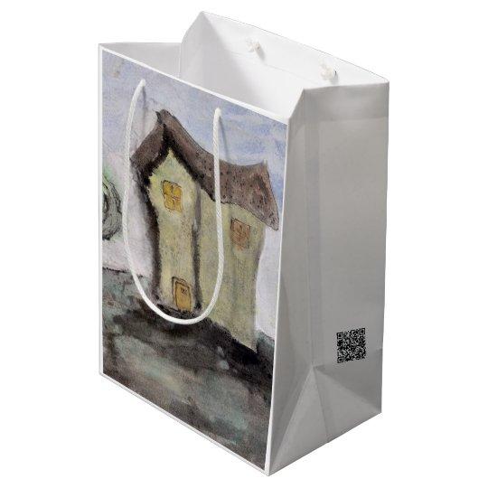 木が付いている家 ミディアムペーパーバッグ