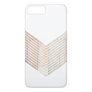 木が付いている白い最小主義のシェブロン iPhone 8 PLUS/7 PLUSケース